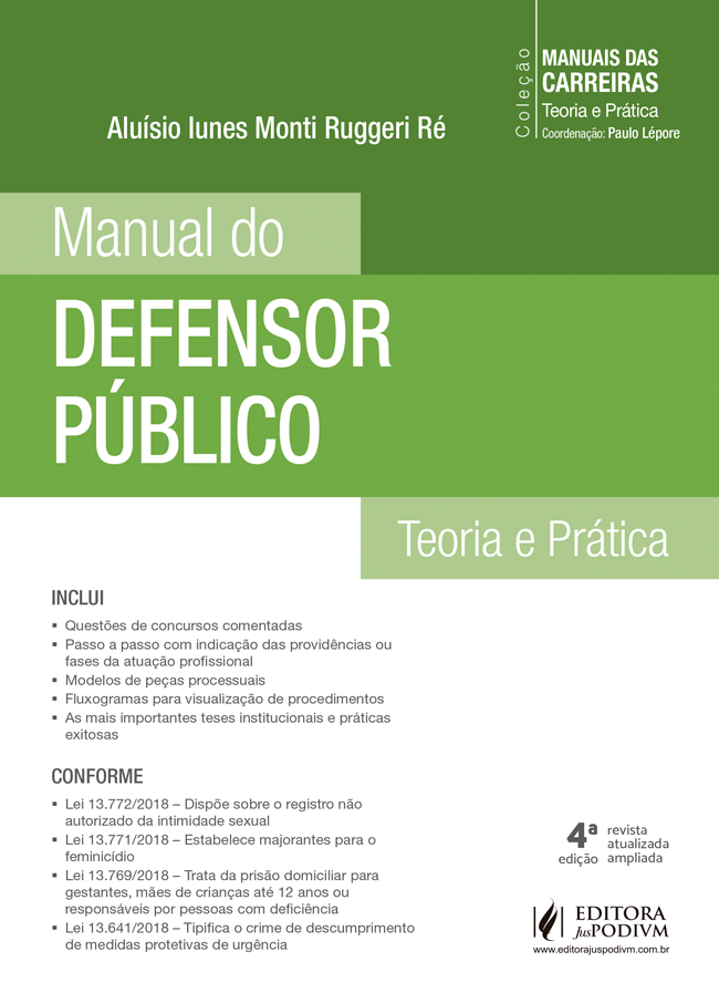 Manuais das Carreiras - Manual do Defensor Público (2019)